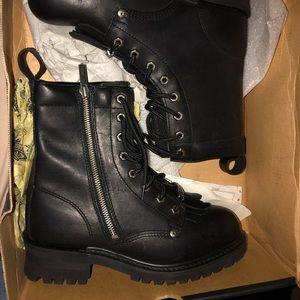 Black combat style women's boots